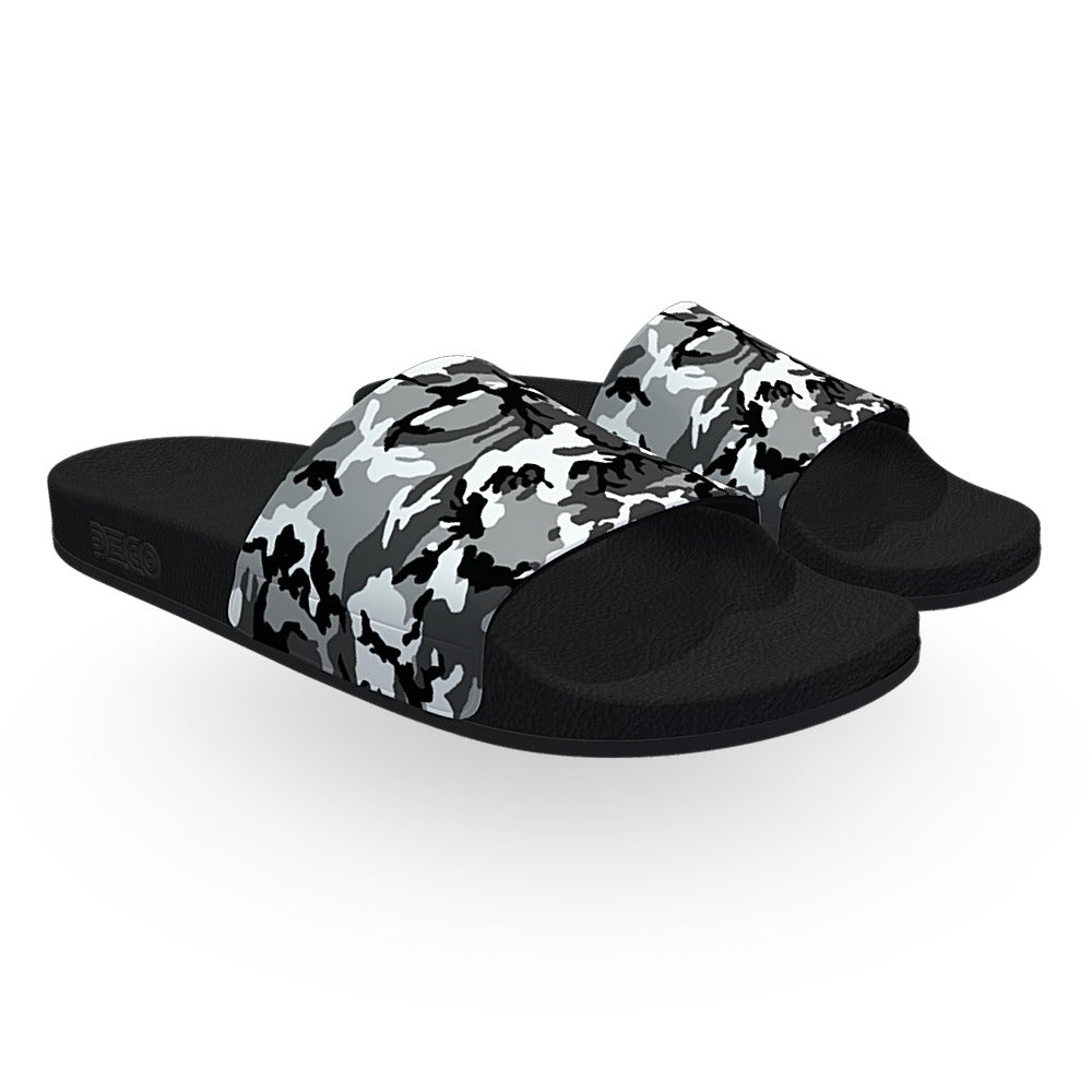 Black and White ERDL Camouflage Slide Sandals