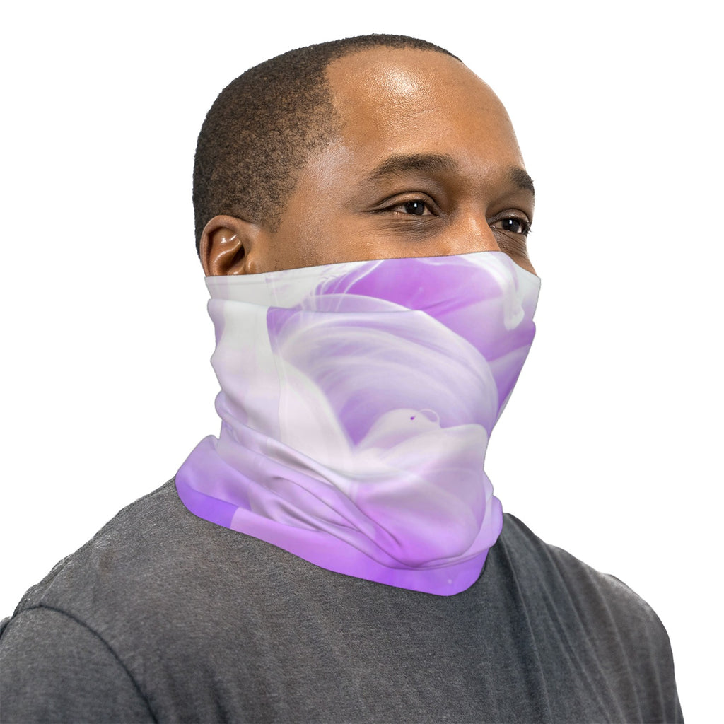 Purple Ink Water Neck Gaiter Face Mask