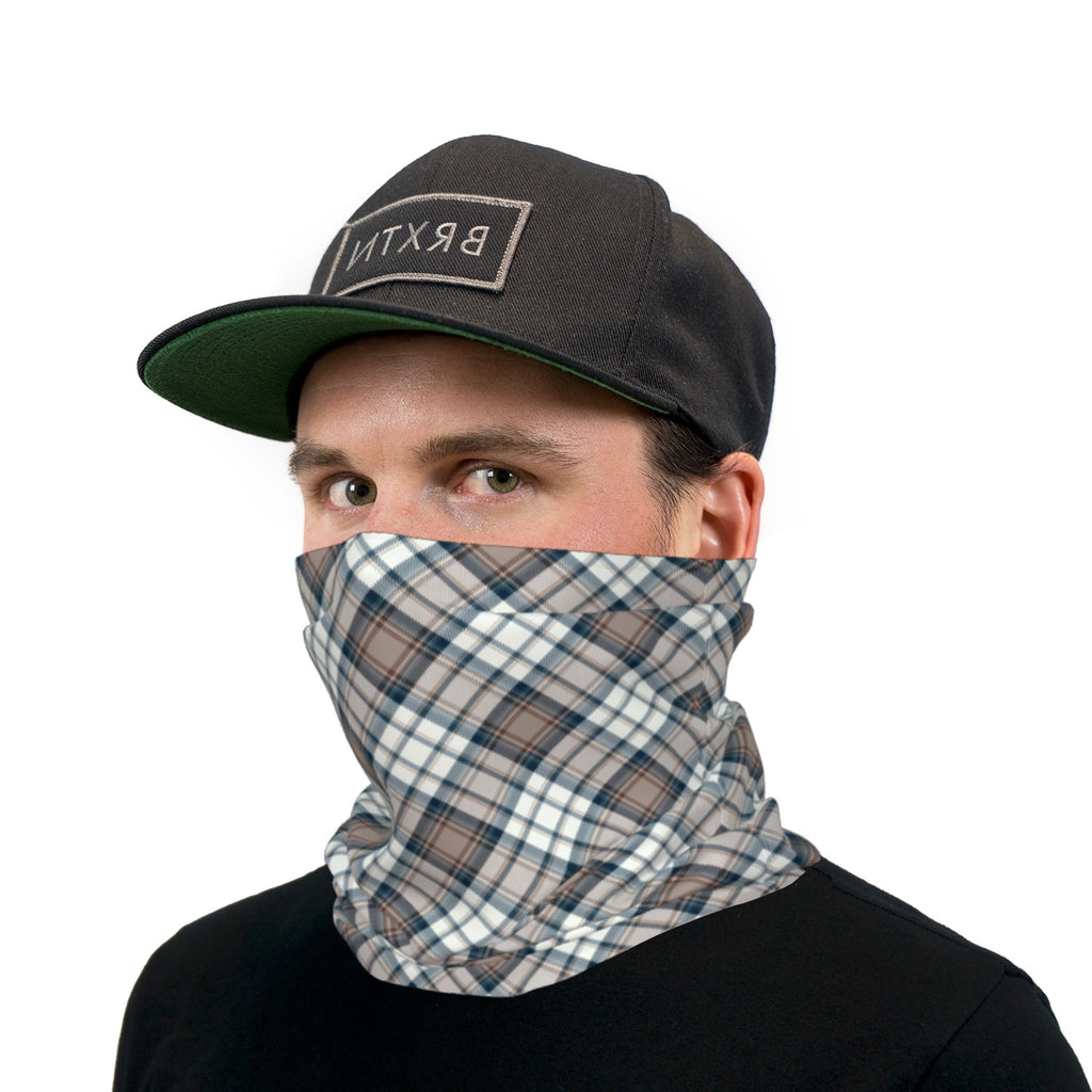 Earth Tones Plaid Neck Gaiter Face Mask