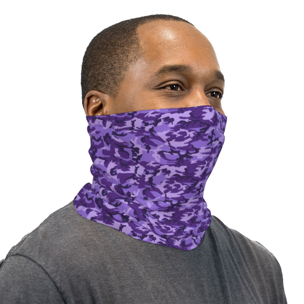 Purple ERDL Camouflage Neck Gaiter Face Mask