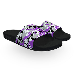 Purple White and Black ERDL Camouflage Slide Sandals