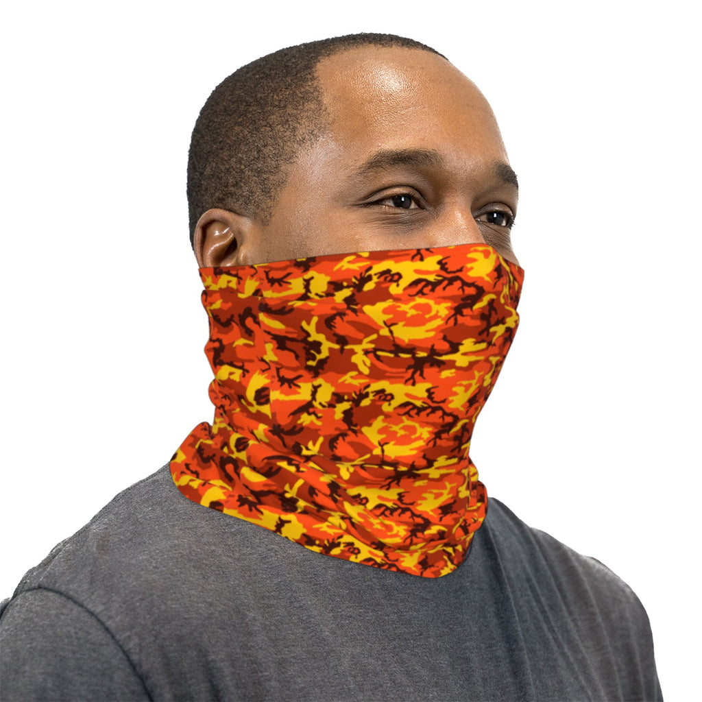 Orange ERDL Camouflage Neck Gaiter Face Mask