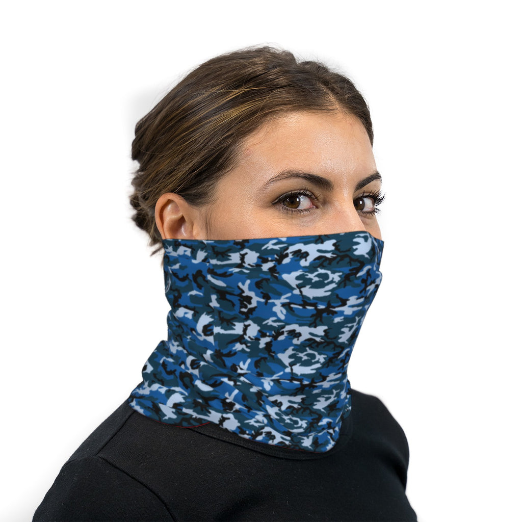 Dark Blue ERDL Camouflage Neck Gaiter Face Mask