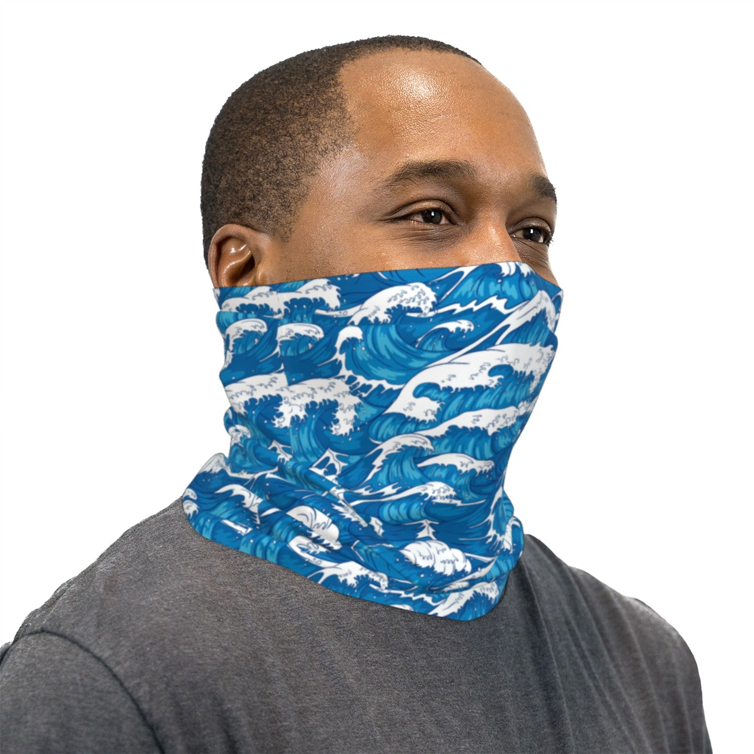 Japanese Wave Neck Gaiter Face Mask