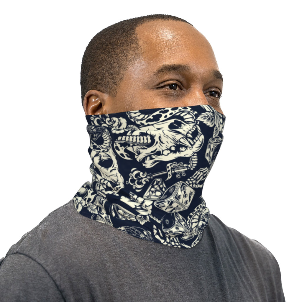 Snakes Skulls And Dice Neck Gaiter Face Mask