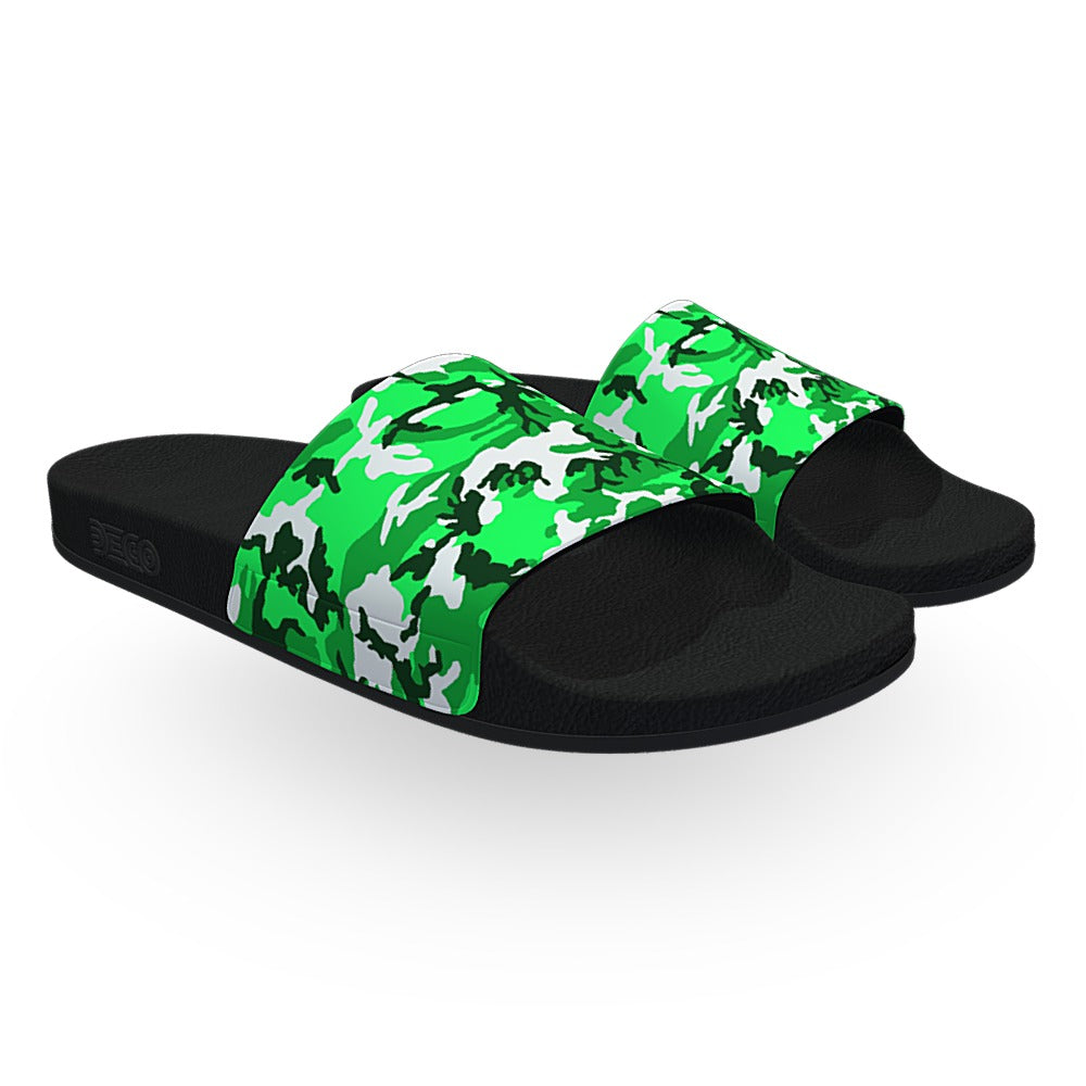 Lime Green ERDL Camouflage Slide Sandals
