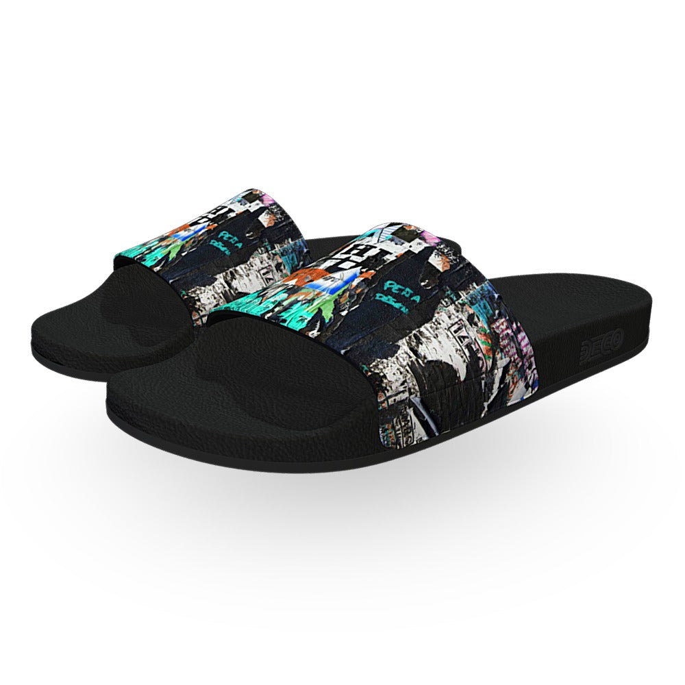 Graffiti Street Art Slide Sandals
