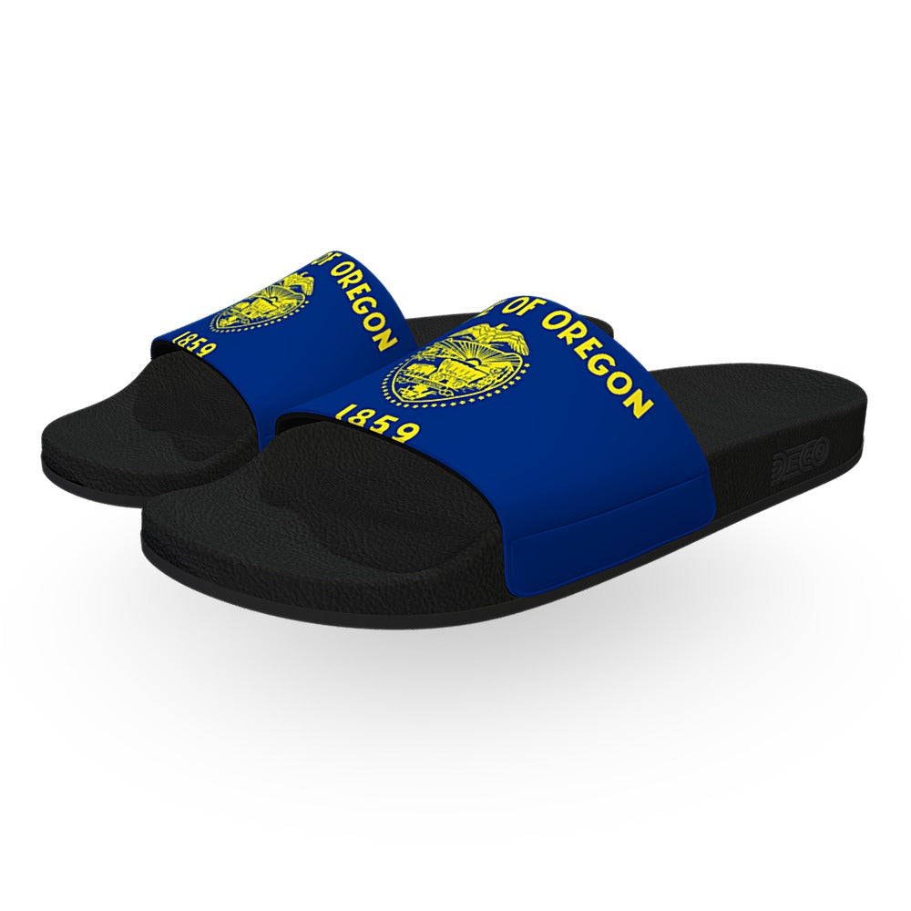 Oregon State Flag Slide Sandals