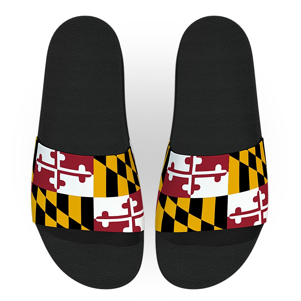 Maryland State Flag Slide Sandals