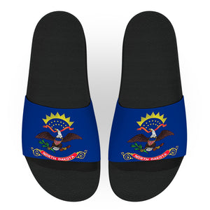North Dakota State Flag Slide Sandals
