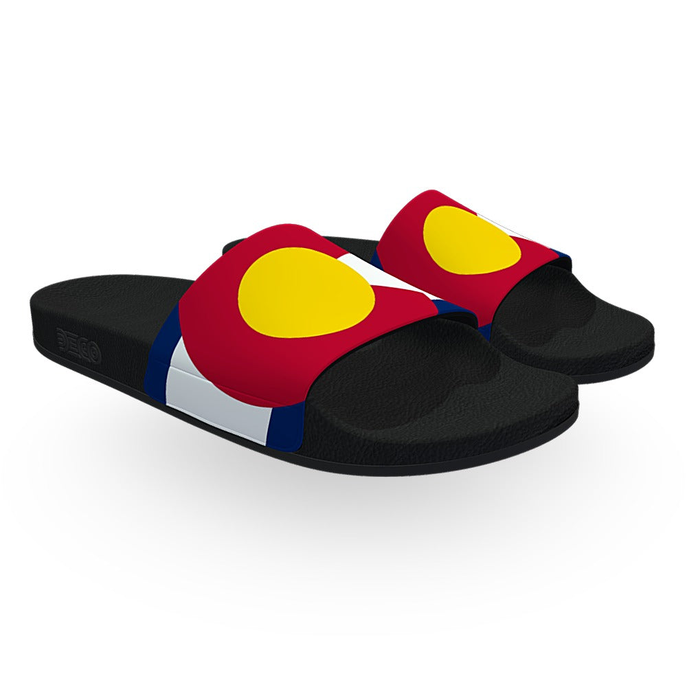 Colorado State Flag Slide Sandals