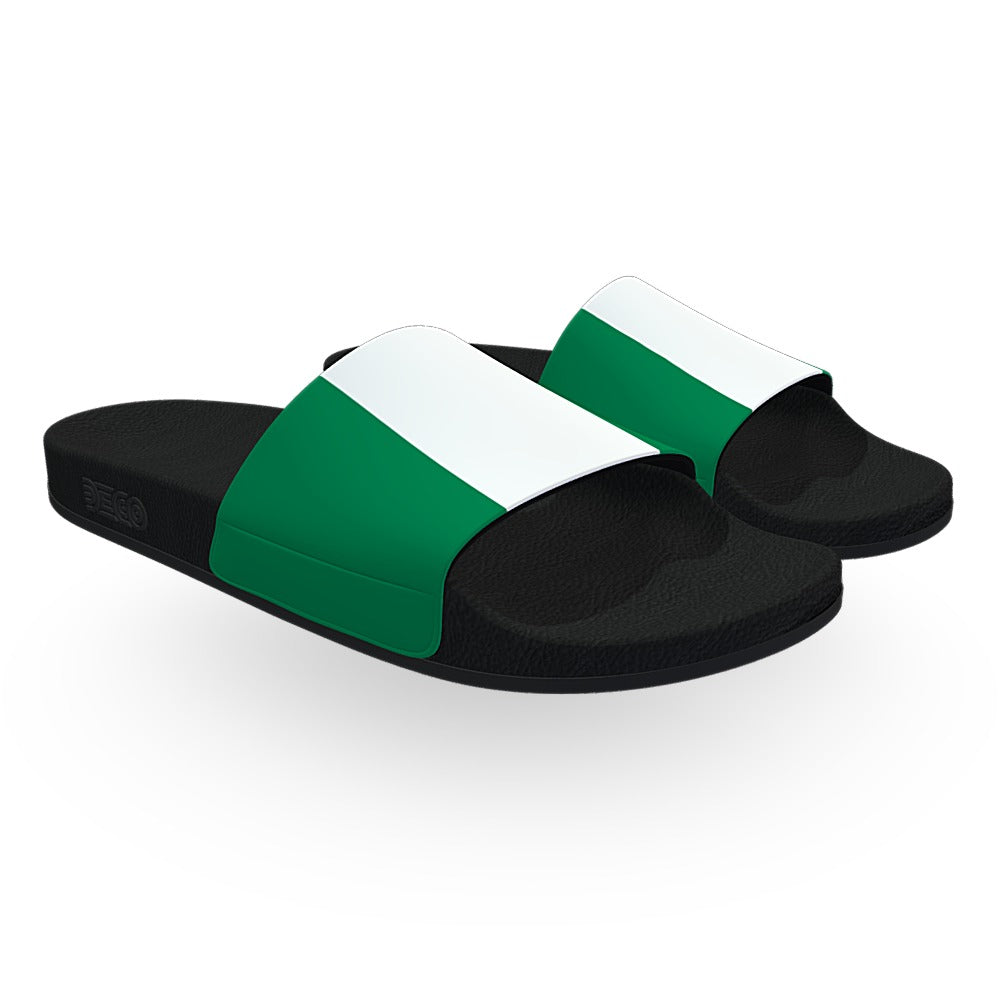 Nigeria Flag Slide Sandals
