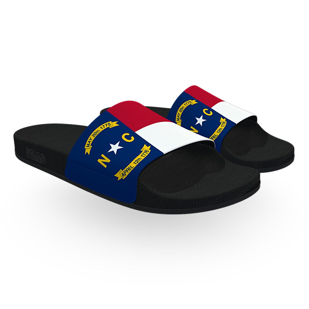 North Carolina State Flag Slide Sandals
