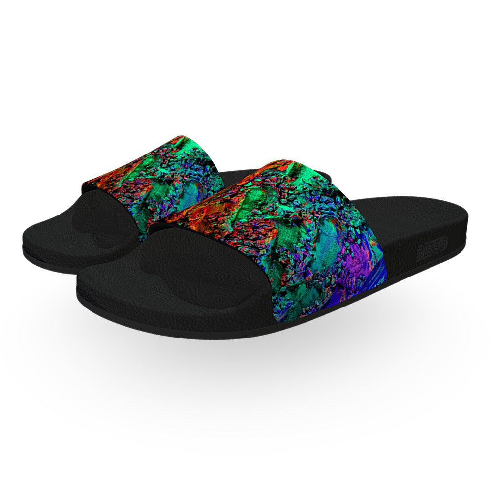 Paint Rainbow Slide Sandals
