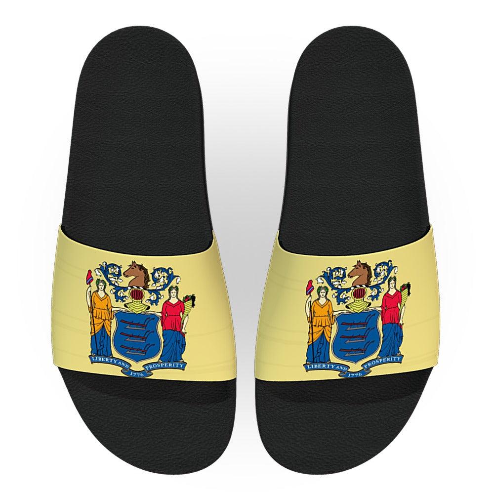 New Jersey State Flag Slide Sandals