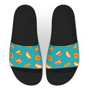 Blue and Orange Lips Slide Sandals