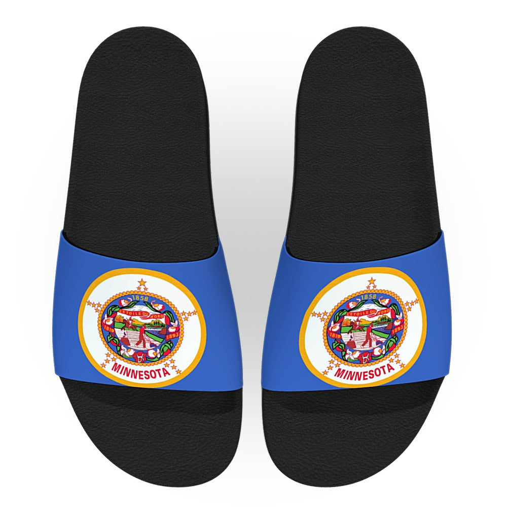 Minnesota State Flag Slide Sandals
