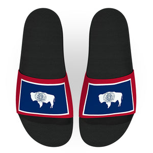 Wyoming State Flag Slide Sandals