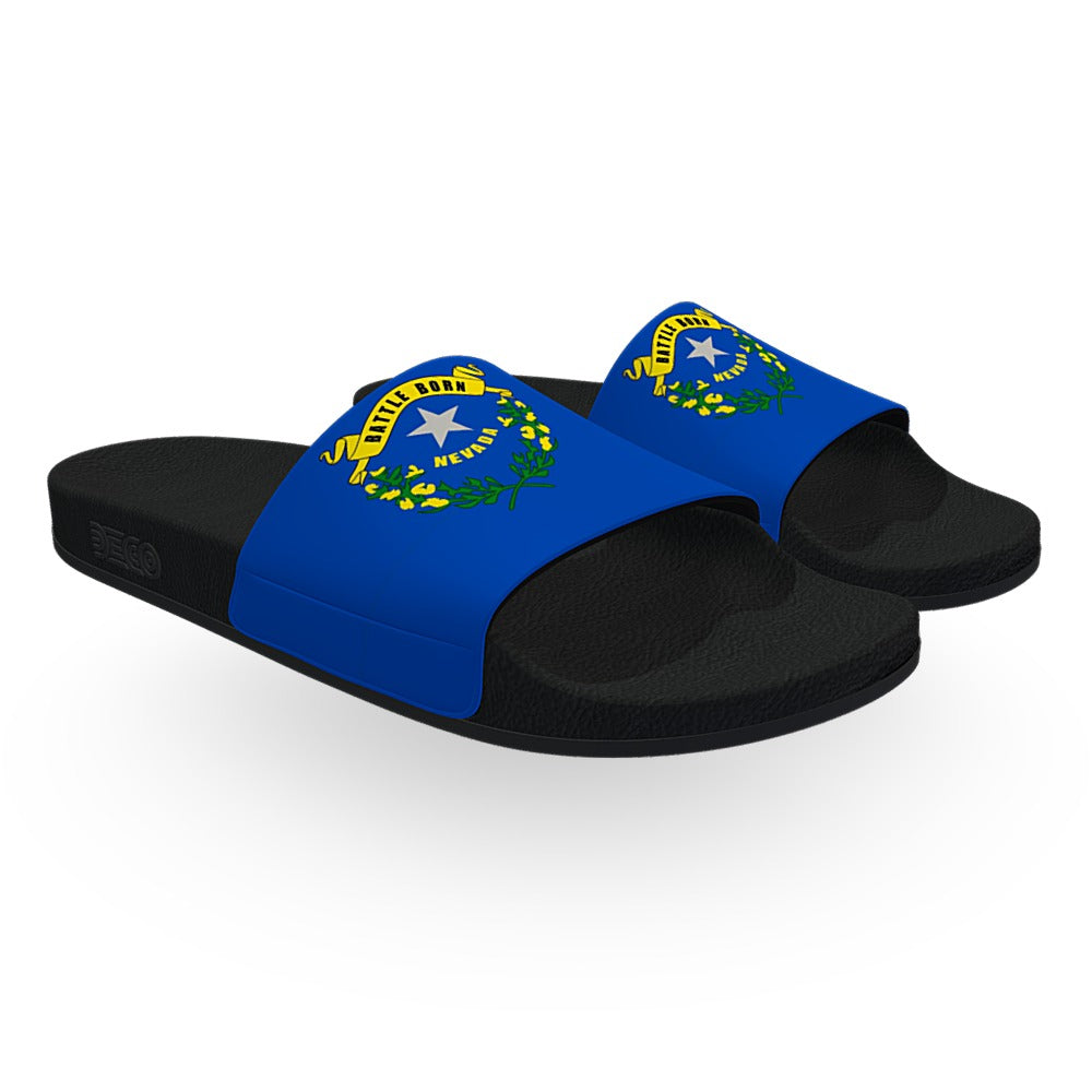 Nevada State Flag Slide Sandals