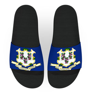 Connecticut State Flag Slide Sandals