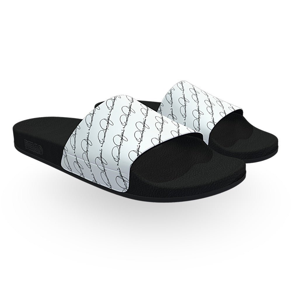 Isaac Pelayo Signature White Slides