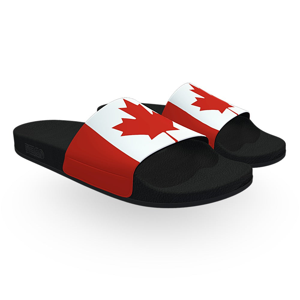 Canadian Flag Slide Sandals