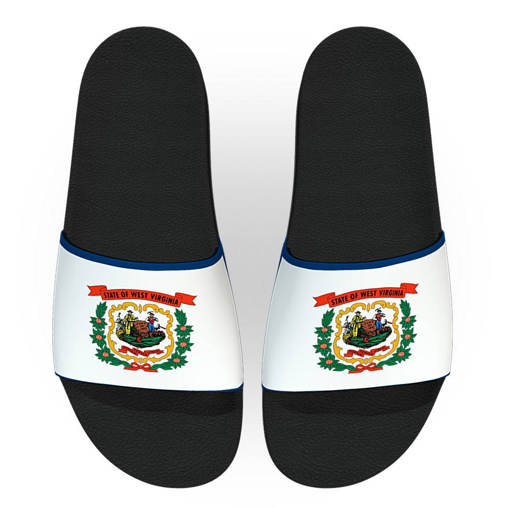 West Virginia State Flag Slide Sandals