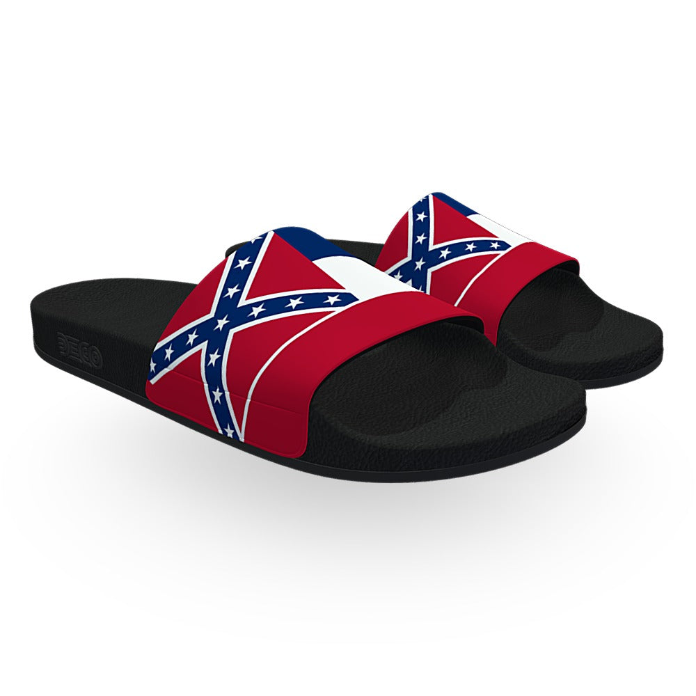 Mississippi State Flag Slide Sandals
