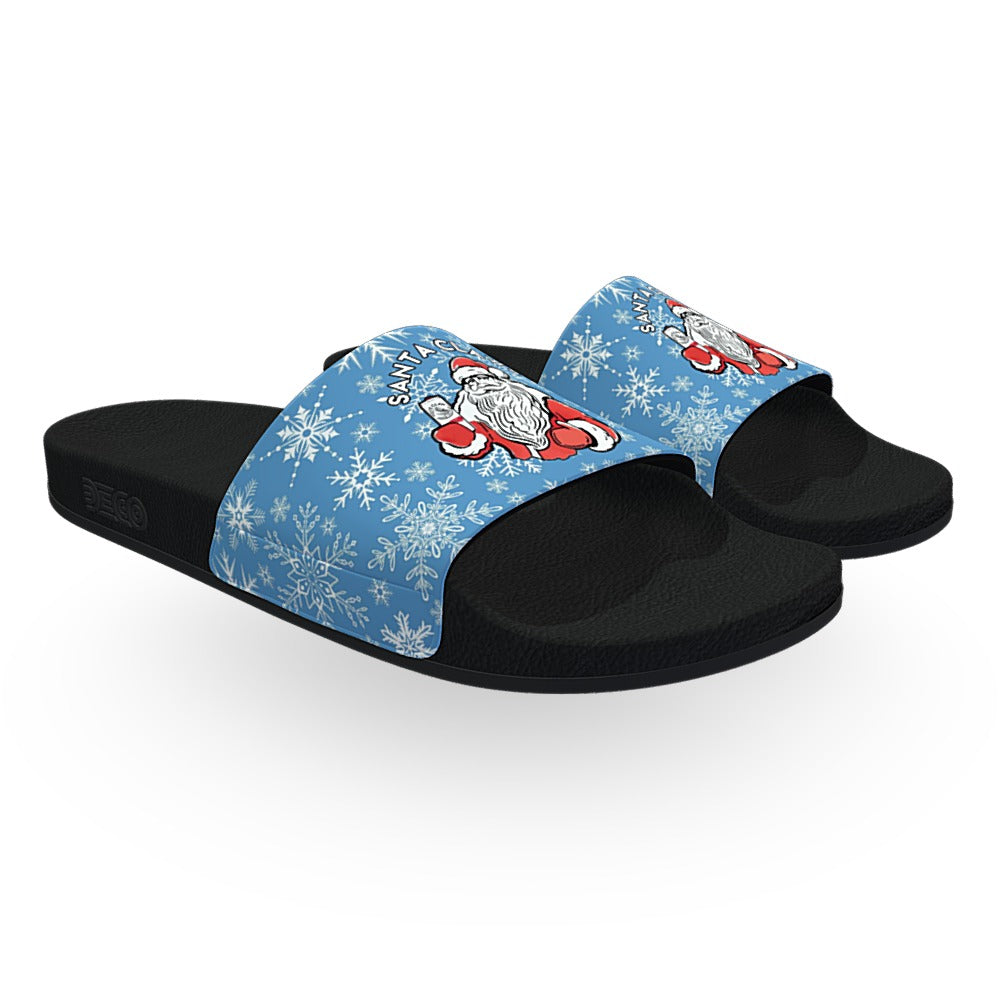 Light Blue Santa Claws Slides