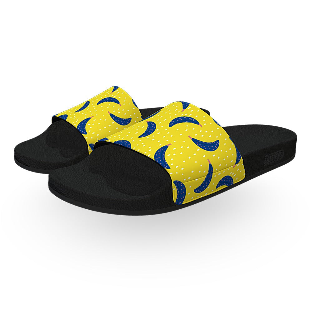 Blue and Yellow Banana Slide Sandals