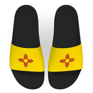 New Mexico State Flag Slide Sandals
