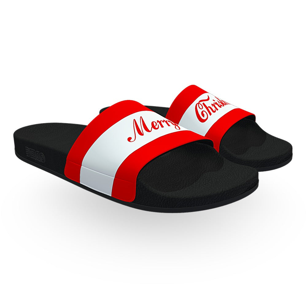 Classic Red and White Merry Christmas Slides