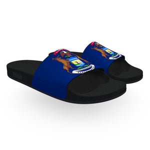 Michigan State Flag Slide Sandals