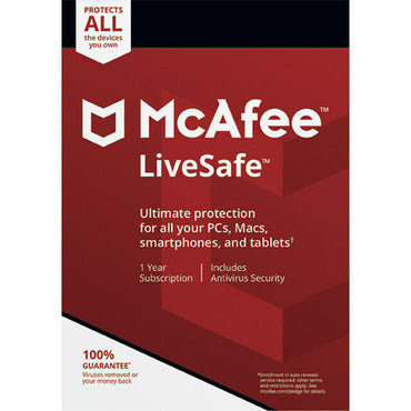 buy McAfee LiveSafe - Unlimited Devices / 1 Year Key online
