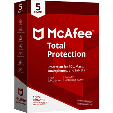 buy McAfee Total Protection 2019 - 5 Devices / 1 Year Key online
