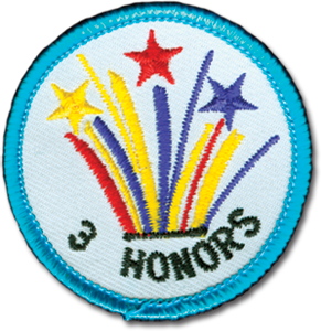 3 Honors Badge