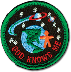 God Knows Me Badge