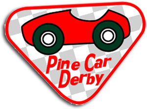 Pine Car Participation Badge - Red