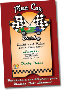 Pine Car Derby Wall Poster
