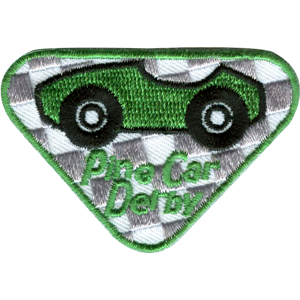 Pine Car Participation Badge-Green