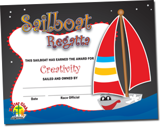 Creativity Award Sailboat Certificate