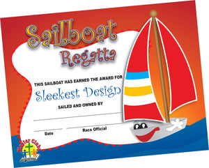 Sleekest Design Sailboat Certificate