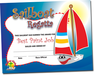 Best Paint Job Sailboat Certificate