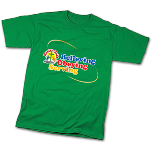 Child Medium T-Shirt Green (10/12)