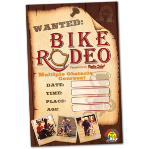 Bike Rodeo Wall Poster