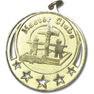 Master Clubs Award Medal - Group Customized Plate