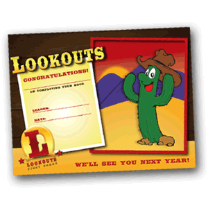 Lookouts Year End Certificate