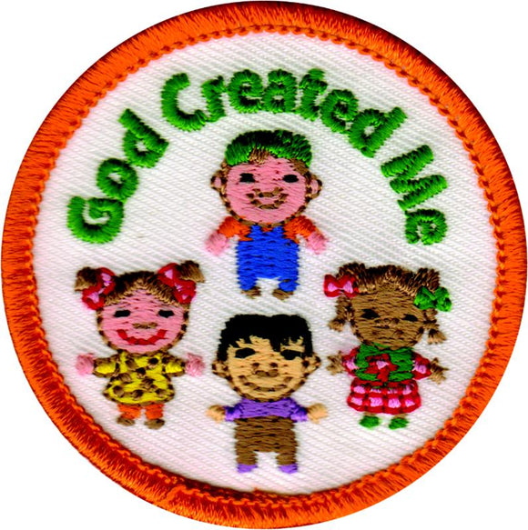 God Created Me Badge