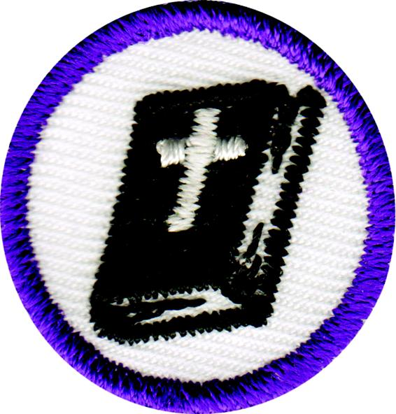 Purple Bible Badge