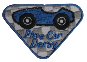 Pine Car Participation Badge-Blue